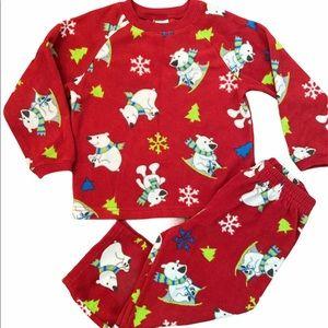 ✨3 for $30✨Fleece Holiday Toddler 2PC Pajama Set